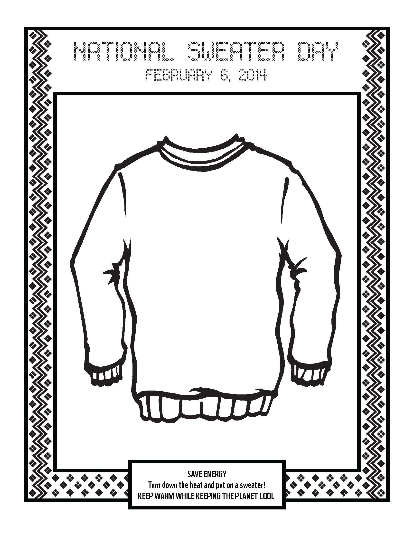 Displaying 14> Images For - Christmas Sweater Coloring Page...